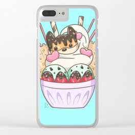 Shiba Cookie Waffle Parfait Clear iPhone Case