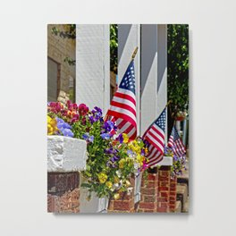 Flags & Flowers Metal Print