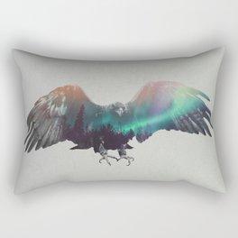 Eagle In The Aurora Borealis Rectangular Pillow
