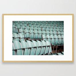 Chairs & bleachers Framed Art Print