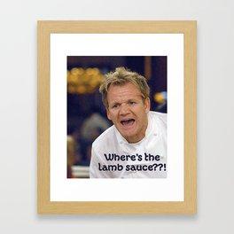 Where's the Lamb Sauce? Framed Art Print