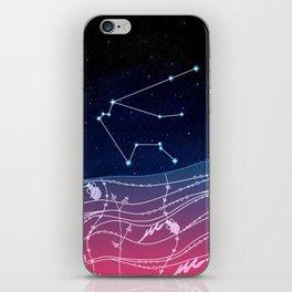 Aquarius Zodiac Constellation Design iPhone Skin