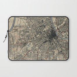 Vintage Map of Nashville Tennessee (1929) Laptop Sleeve
