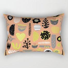 Abstract Scandinavian flowers and leaves pattern Rectangular Pillow