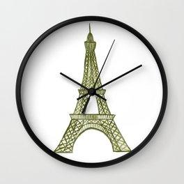 Eiffel tower GOLD / La tour Eiffel - PAINTED Wall Clock