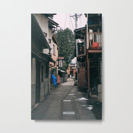 Takayama in the snow Metal Print
