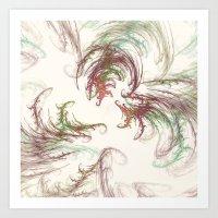 Harvest Winds Fractal Art Print