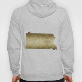 pennsylvania gold foil map Hoody