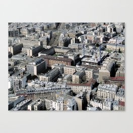 Paris Architecture from above Canvas Print