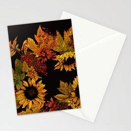 Autumn Wreath Noir Stationery Cards