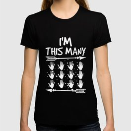 I'm This Many 12 Hands 60th Birthday 60 Years Old T-shirt