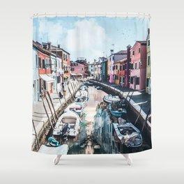 Venice inception by GEN Z Shower Curtain