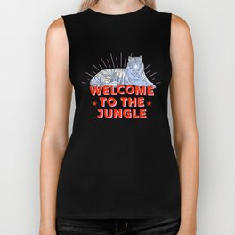 welcome to the jungle - retro tiger Biker Tank