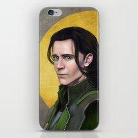 loki iPhone & iPod Skins featuring Loki by Slugette