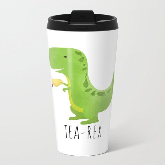 Tea-Rex Metal Travel Mug