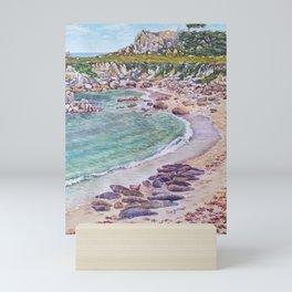Harbor Seals at Hopkins Beach Mini Art Print