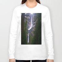 yosemite Long Sleeve T-shirts featuring Yosemite Waterfall by RENA16