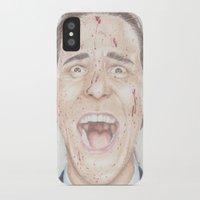 american psycho iPhone & iPod Cases featuring American Psycho by JadeJonesArt
