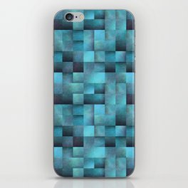 Tiled Pattern Shades Of Blue iPhone Skin