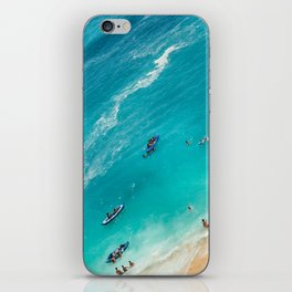 Beach from above iPhone Skin