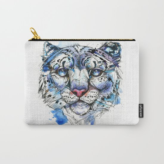 Icy Snow Leopard Carry-All Pouch