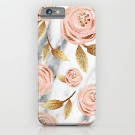 Blushing blooms iPhone Case
