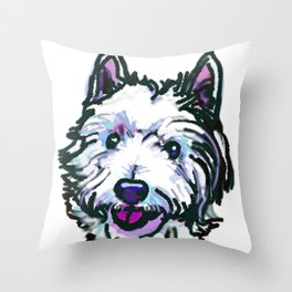 The Westie Dog Love of my Life Throw Pillow