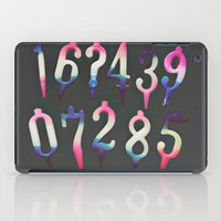 numbers iPad Cases featuring Numbers! grey by gasponce