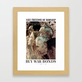 Save Freedom Of Worship Framed Art Print