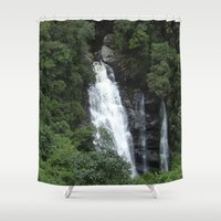 waterfall Shower Curtains featuring WATERFALL by Caio Trindade