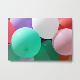 Bunch of Colored Balloons Metal Print