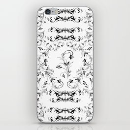 Abstract floral frame iPhone Skin