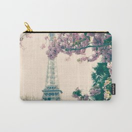 The Eiffel Tower and cherries Carry-All Pouch