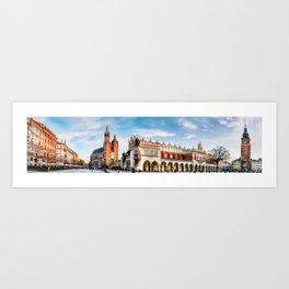 Cracow Main Square Art Print