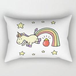 cute jump unicorn Rectangular Pillow