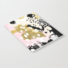 Simone - abstract painting gold foil trendy hipster pastel pink modern trendy colors decor college Notebook