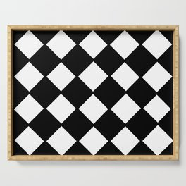 optical pattern 72 domino Serving Tray