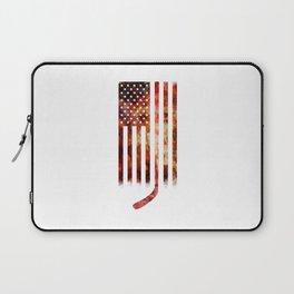 Ice Hockey USA Flag Laptop Sleeve