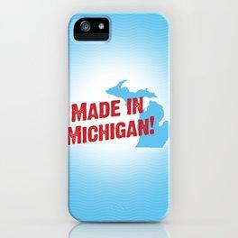 Made in Michigan iPhone Case