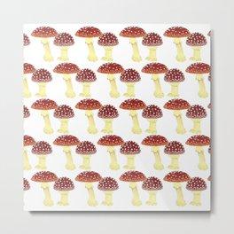 offset toadstools white Metal Print