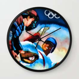 29c Olympic Baseball Wall Clock