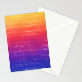 Sheet Music - Rainbow Partiture Stationery Cards