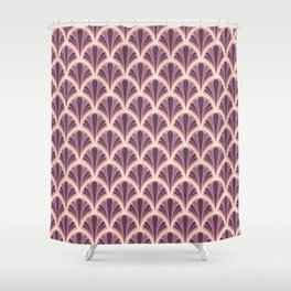 Vintage Art Deco Seashell - Red onion Shower Curtain