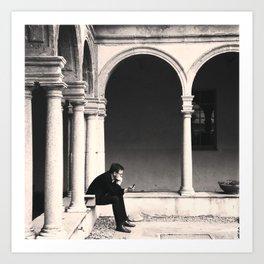 .better alone than alone. Art Print