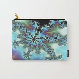 Blue Crab Fractal Carry-All Pouch