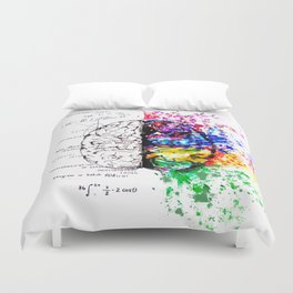 Conjoined Dichotomy Duvet Cover