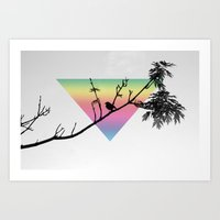 Bird Silhouette  Art Print