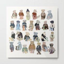 teddy bear alphabet Metal Print