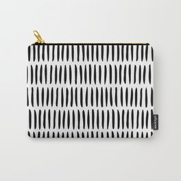 Classy Handpainted Stripes Pattern, Scandinavian Design Carry-All Pouch