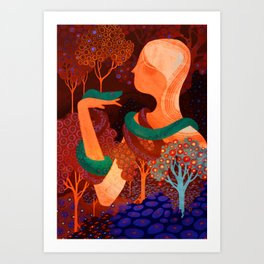 Red Eden Art Print